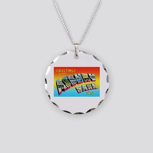 Asbury Park New Jersey Necklace Circle Charm