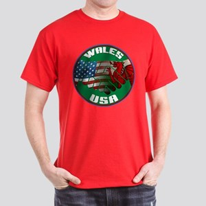 Wales USA Friendship Dark T-Shirt