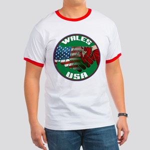 Wales USA Friendship Ringer T