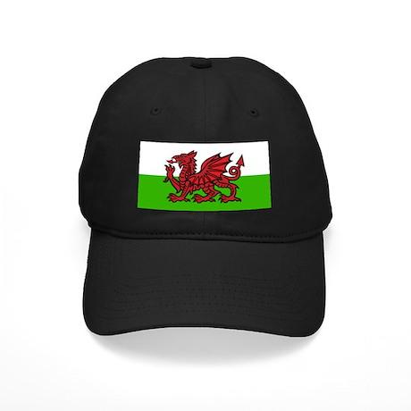 Welsh Flag Black Cap