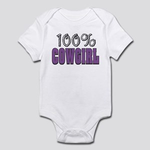 100% Cowgirl Infant Creeper