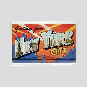 New York Rectangle Magnet