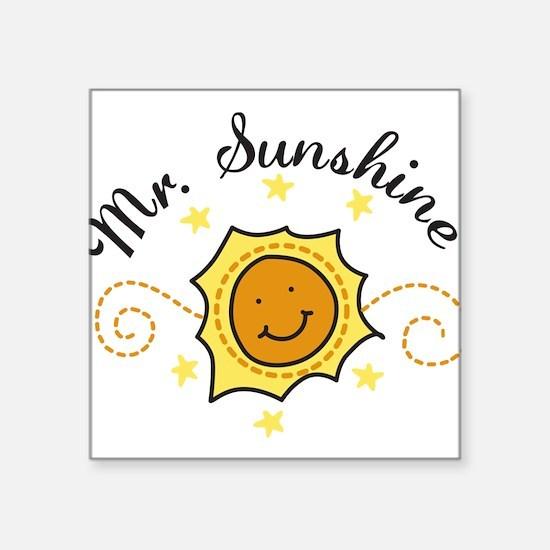 "Mr. Sunshine Square Sticker 3"" x 3"""