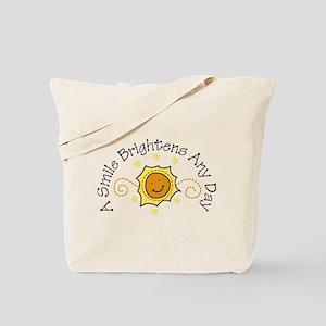 A Smile Brightens Tote Bag