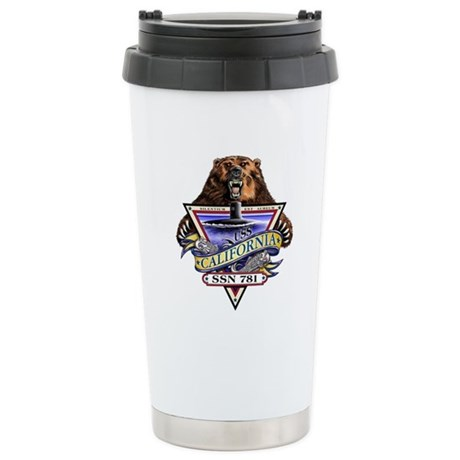 USS California SSN 781 Stainless Steel Travel Mug