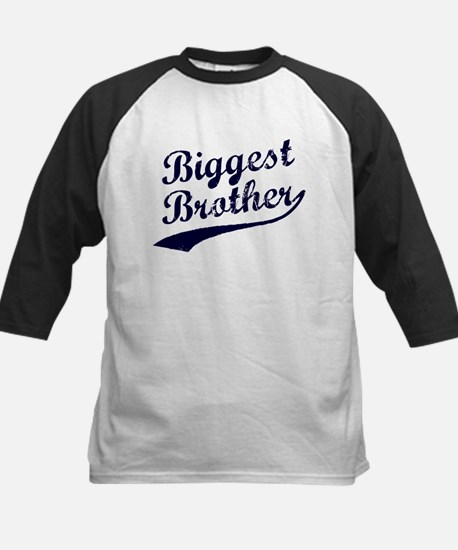 Biggest Brother (Blue Text) Baseball Jersey