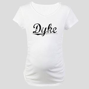 Dyke, Vintage Maternity T-Shirt