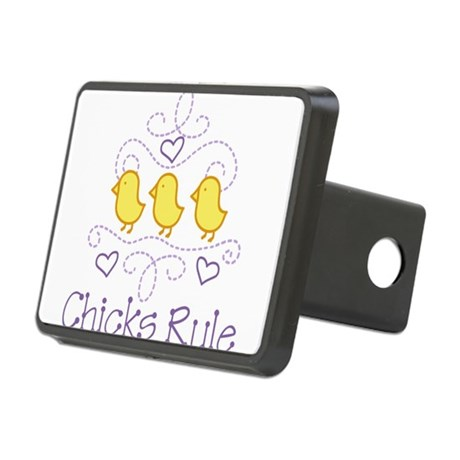 Chicks Rule Rectangular Hitch Cover