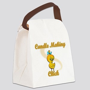 Candle Making Chick #2 Canvas Lunch Bag