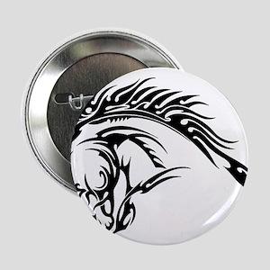 """Tribal Horse Head 2.25"""" Button"""