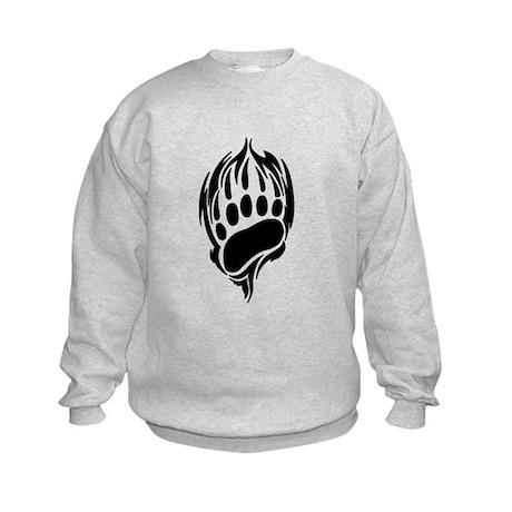 Tribal Bear Claw Kids Sweatshirt