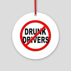 Anti / No Drunk Drivers Ornament (Round)
