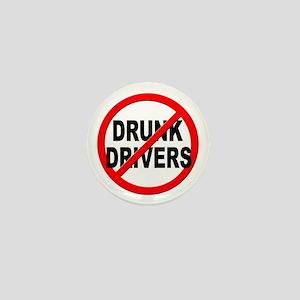 Anti / No Drunk Drivers Mini Button