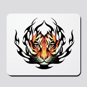 Tribal Flame Tiger Mousepad