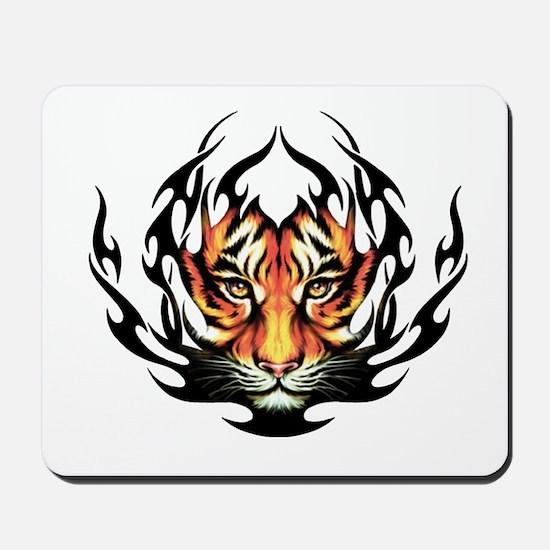 Tribal Flame Tiger Mousepad