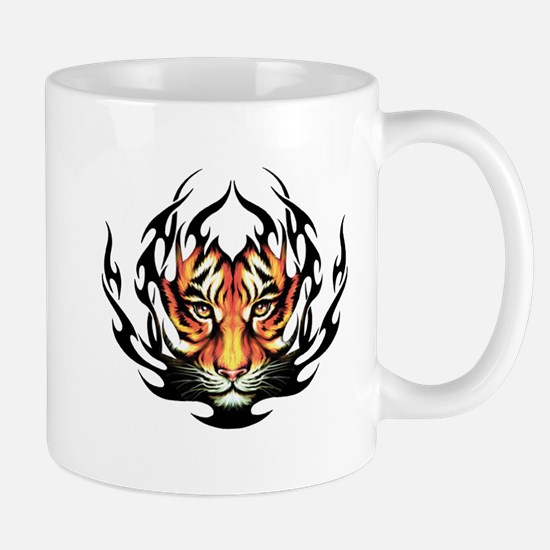 Tribal Flame Tiger Mug