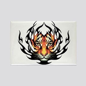 Tribal Flame Tiger Rectangle Magnet