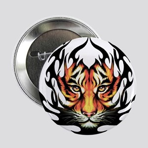 """Tribal Flame Tiger 2.25"""" Button"""