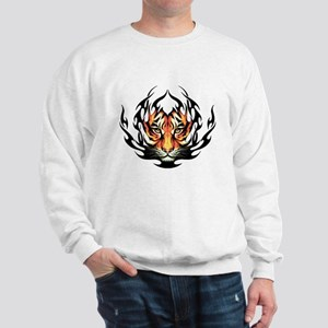 Tribal Flame Tiger Sweatshirt