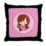 Violinist Girl Music Throw Pillow