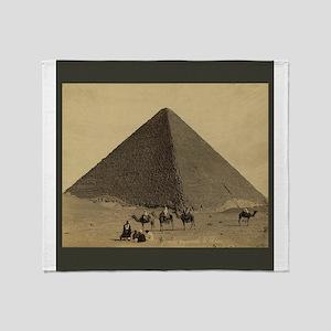Egyptian Pyramid Throw Blanket