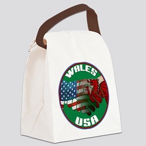 Wales USA Friendship Canvas Lunch Bag