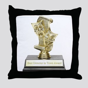 Best Director in Town Throw Pillow