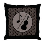 Violin Orchestra Gift Throw Pillow