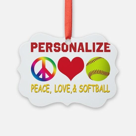Girls Softball Ornament