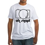 Camera, Oh Snap! Fitted T-Shirt