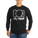 Camera, Oh Snap! Long Sleeve Dark T-Shirt