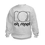 Camera, Oh Snap! Kids Sweatshirt