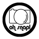 Camera, Oh Snap! Round Car Magnet