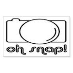 Camera, Oh Snap! Sticker (Rectangle)