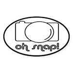Camera, Oh Snap! Sticker (Oval)