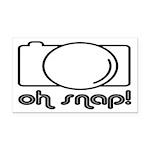 Camera, Oh Snap! Rectangle Car Magnet