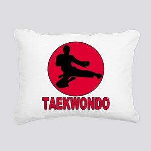 old tae kwon do(pink) Rectangular Canvas Pillo