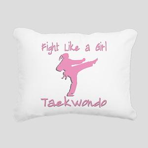 old tae kwon do(pink) Rectangular Canvas Pillo