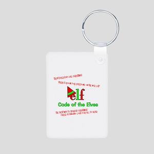 Elf Code of the Elves Aluminum Photo Keychain