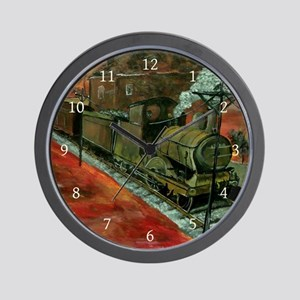 Old Train Engine Wall Clock