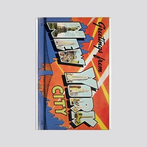 New York Greetings Rectangle Magnet
