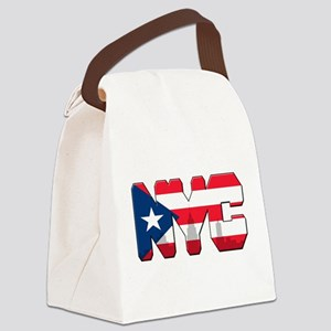 New York Puerto Rican Canvas Lunch Bag