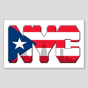 New York Puerto Rican Sticker (Rectangle)