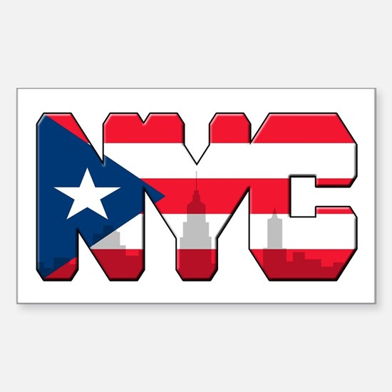 New York Puerto Rican Sticker (Rectangle)
