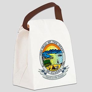 Alaska Seal Canvas Lunch Bag