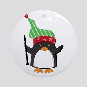 Christmas Music Penguin Ornament (Round)