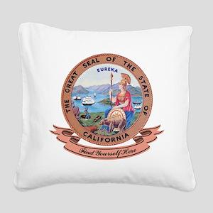 California Seal Square Canvas Pillow