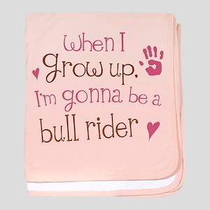 Kids Future Bull Rider baby blanket