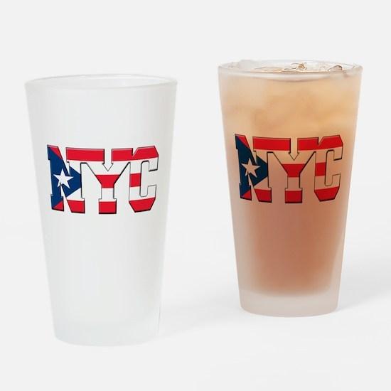 New York Puerto Rican Drinking Glass