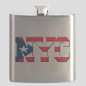 New York Puerto Rican Flask